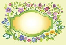 Het frame van de lente stock illustratie