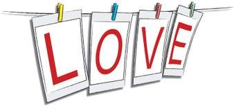 Het frame van de liefde Stock Foto