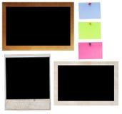 Het frame van de polaroidcamera en van de foto Stock Foto