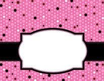 Het frame van de polka achtergrond Stock Foto