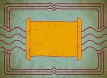 Het frame van de rol op het oude karton Royalty-vrije Stock Afbeeldingen