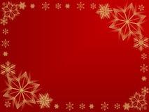 Het frame van de sneeuwvlok Royalty-vrije Stock Afbeelding