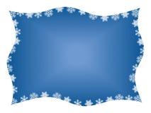 Het Frame van de sneeuwvlok Stock Afbeelding