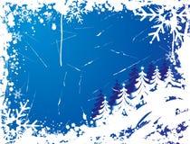 Het frame van de sneeuwvlok grunge, elementen voor ontwerp, vector Royalty-vrije Stock Foto's