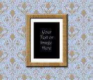 Het frame van de teak antiek behang Royalty-vrije Stock Foto