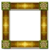 Het frame van de tegel met inlegsel Stock Afbeelding