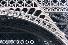 Het frame van de Toren van Eiffel Stock Afbeeldingen