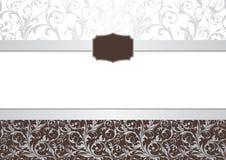 Het frame van de uitnodiging Stock Afbeeldingen