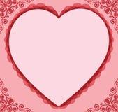 Het frame van de valentijnskaart Stock Afbeelding