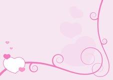 Het frame van de valentijnskaart royalty-vrije illustratie