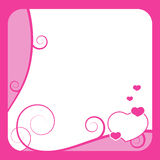 Het frame van de valentijnskaart vector illustratie