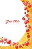 Het frame van de valentijnskaart Royalty-vrije Stock Fotografie