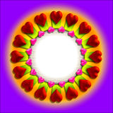 Het frame van de valentijnskaart van het hart vector illustratie