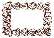 Het frame van de valentijnskaart van verglaasde harten Stock Afbeeldingen