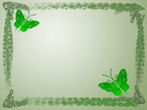 Het frame van de vlinder Royalty-vrije Stock Afbeeldingen
