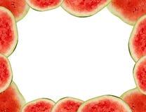Het frame van de watermeloen Stock Foto