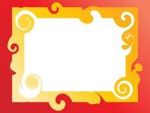 Het frame van de werveling vector illustratie