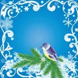Het frame van de winter Stock Afbeelding