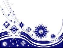 Het frame van de winter met sneeuwvlokken Stock Foto