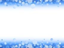 Het frame van de winter met sneeuwvlokken vector illustratie