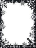 Het frame van de winter met sneeuwvlokken Stock Foto's