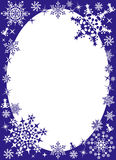 Het frame van de winter met sneeuwvlokken Stock Afbeelding