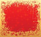 Het frame van de winter rood en goud Royalty-vrije Stock Foto's
