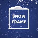 Het frame van de winter Sneeuwvalachtergrond Ontwerpelement voor uw Kerstmisontwerp Royalty-vrije Stock Fotografie