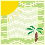 Het frame van de zomer stock illustratie