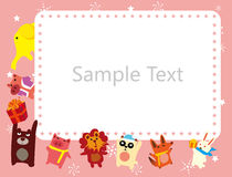Het frame van dieren Stock Foto's