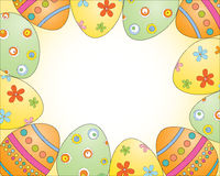 Het frame van eieren Stock Fotografie