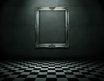 Het frame van Emty bij de muur met het knippen van weg Royalty-vrije Stock Foto's