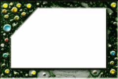 Het frame van Encrusted Stock Afbeeldingen