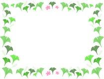 Het frame van Gingko gaat weg en bloeit stock illustratie