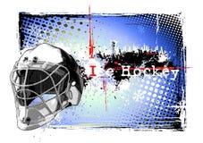 Het frame van Goalie heomet Stock Foto's