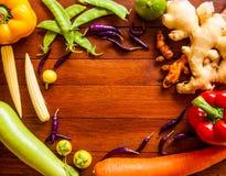 Het frame van groenten Stock Fotografie