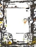 Het frame van Grunge en grensreeks Stock Afbeelding