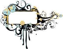 Het Frame van Grunge met Arabesques en Vlinders Royalty-vrije Stock Fotografie