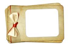 Het frame van Grunge met boog op geïsoleerde achtergrond Royalty-vrije Stock Foto