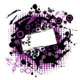 Het frame van Grunge silhouet Royalty-vrije Stock Foto's