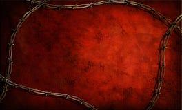 Het Frame van Grunge van het prikkeldraad Royalty-vrije Stock Afbeelding