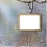 Het frame van Grunge voor foto, op de abstracte achtergrond Royalty-vrije Stock Afbeeldingen