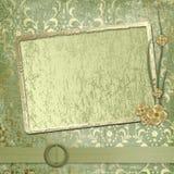 Het frame van Grunge voor groet of gelukwensen Stock Foto