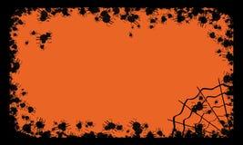 Het frame van Halloween met spinnen vector illustratie