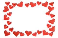 Het frame van harten Stock Fotografie