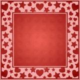 Het Frame van harten Stock Foto's