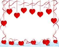 Het frame van harten vector illustratie