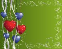 Het Frame van harten en van Linten royalty-vrije illustratie