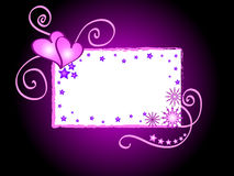 Het frame van harten en van sterren Stock Foto's