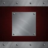 Het frame van het aluminium dat aan een koolstofvezel wordt vastgebout Stock Fotografie